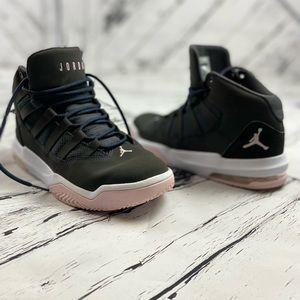 Jordan Max Aura GS Anthracite Pink Foam Size 6Y